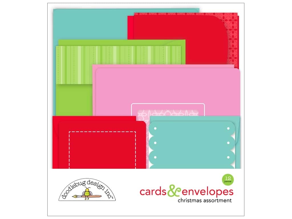 Doodlebug Collection Milk & Cookies Create-A-Card Assortment 6 pc (6 sets)