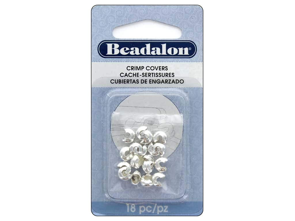 Beadalon Crimp Covers 6 mm Silver Plated 18 pc.