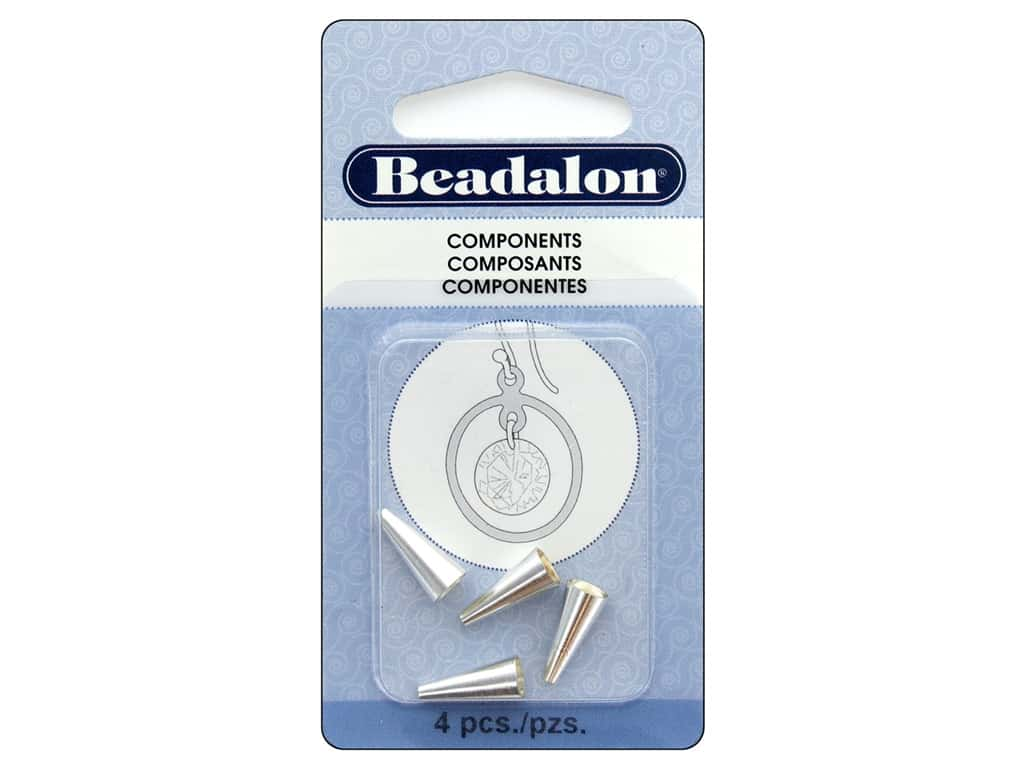 Beadalon Necklace Cone 12.2 mm Silver 4 pc.