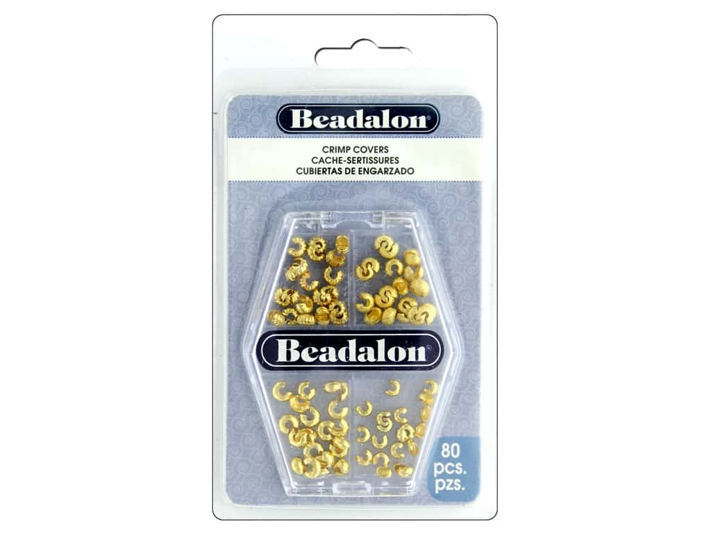 Beadalon Crimp Covers Variety Pack Gold Plated 80 pc.