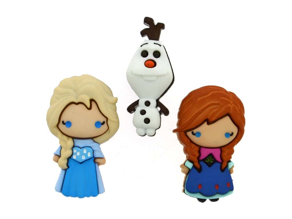 Jesse James Embellishments Disney Elsa Anna Olaf