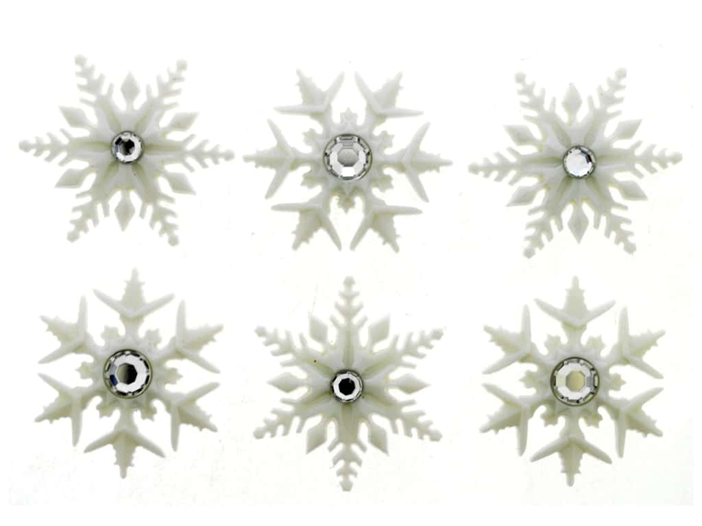 Jesse James Embellishments Fancy Snowflakes