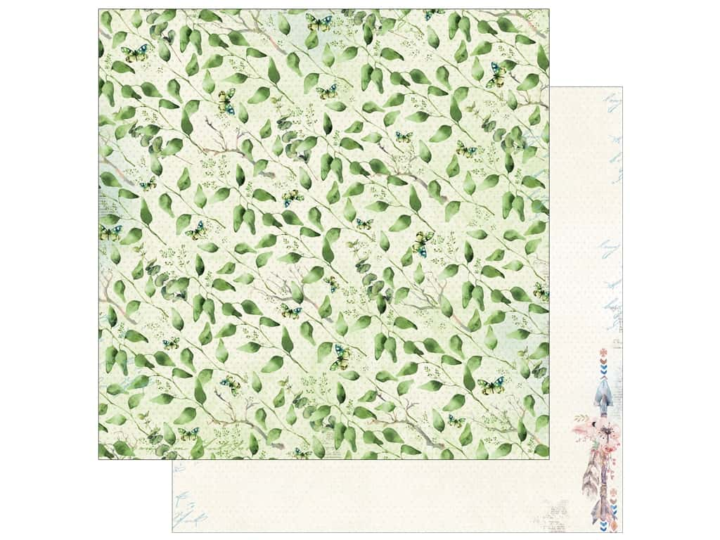 Bo Bunny Collection Serendipity Paper 12 in. x 12 in. Treetops (25 pieces)