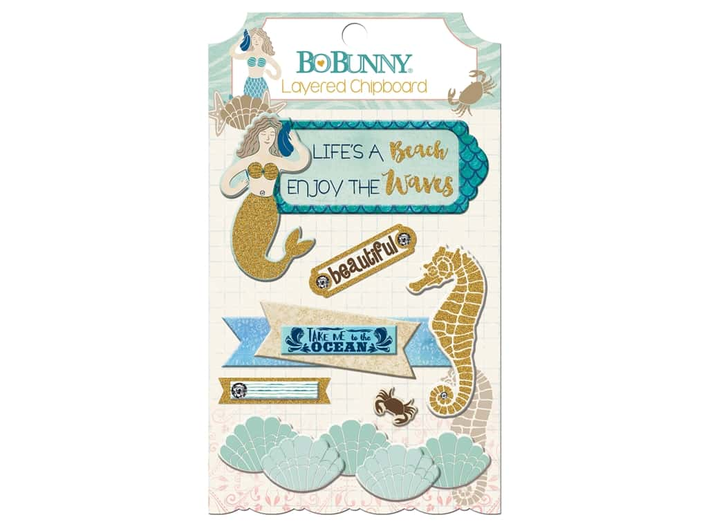 Bo Bunny Down By The Sea Layered Chipboard