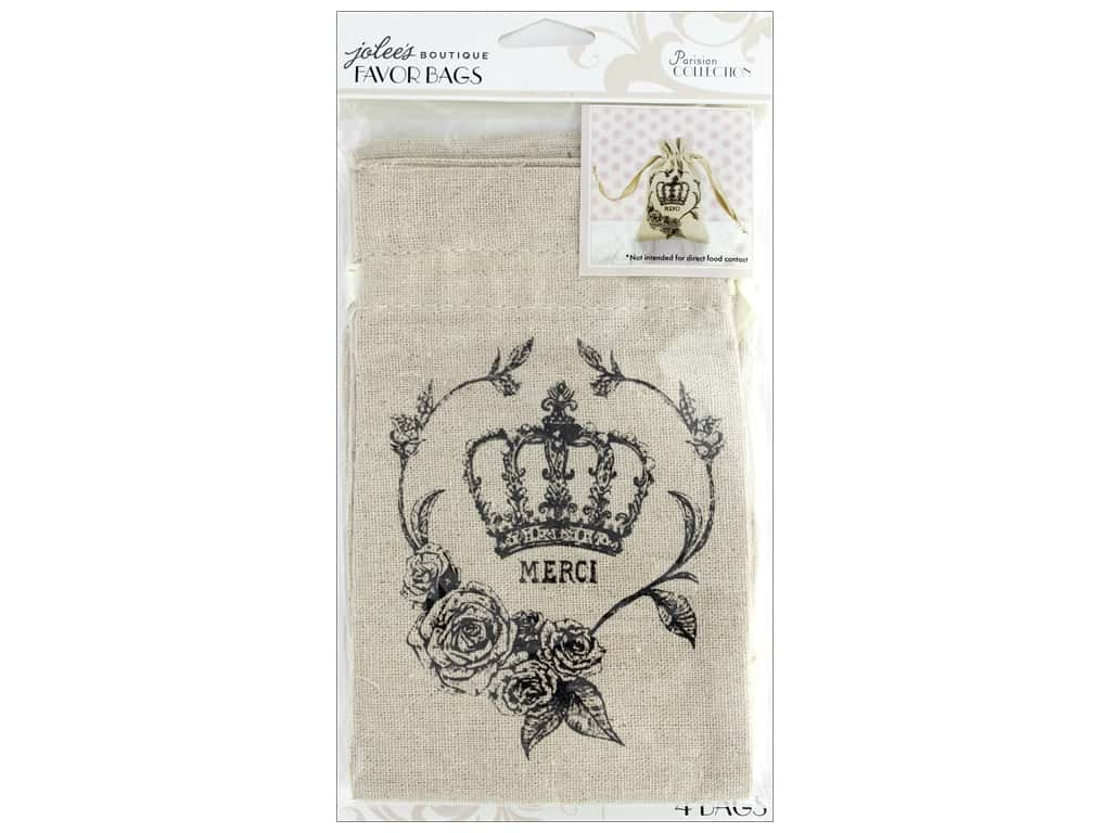 EK Jolee's Boutique Embellishment Parisian Favor Bags Etching