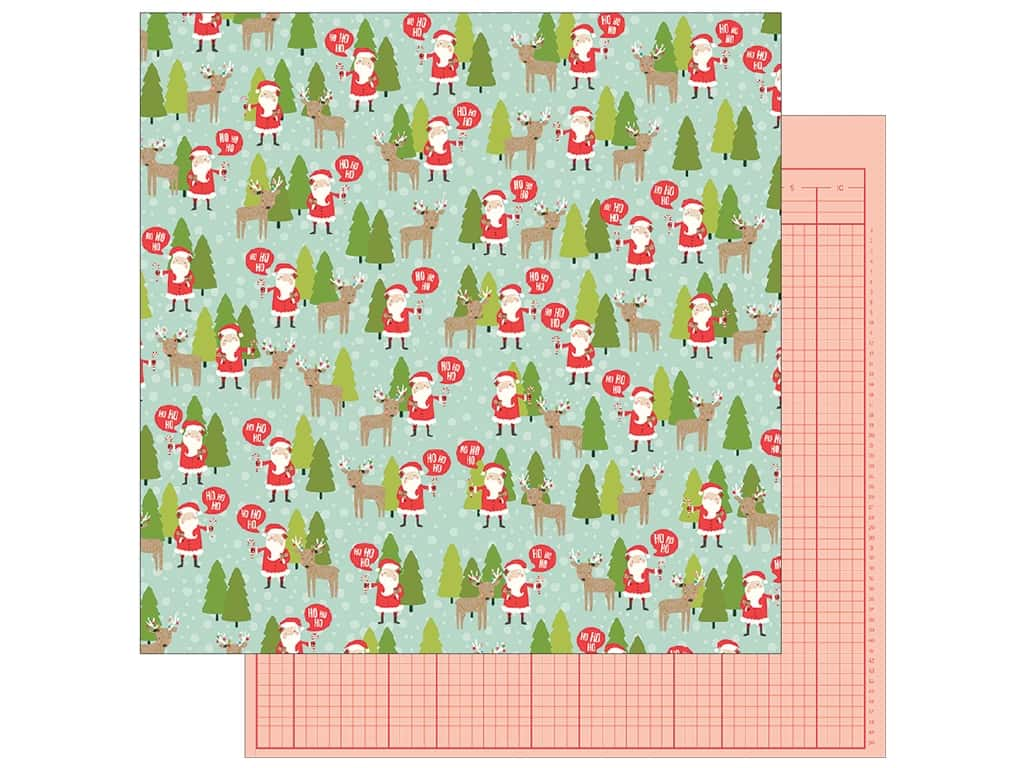 Pebbles Merry Merry Paper 12 in. x 12 in.  North Pole (25 pieces)