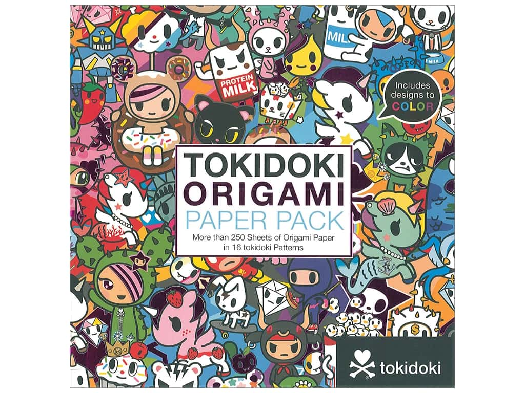 Sterling Origami Paper Pack 6 x 6 in. Tokidoki