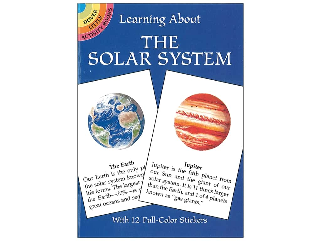 Dover Publications Little Learning About The Solar System Book