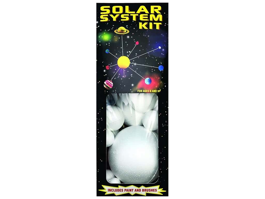 Smoothfoam Kit Solar System Paint/Brush