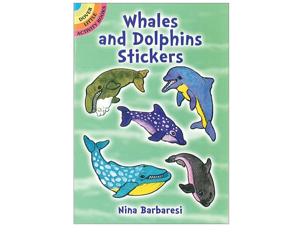 Dover Publications Little Whales and Dolphins Stickers Book