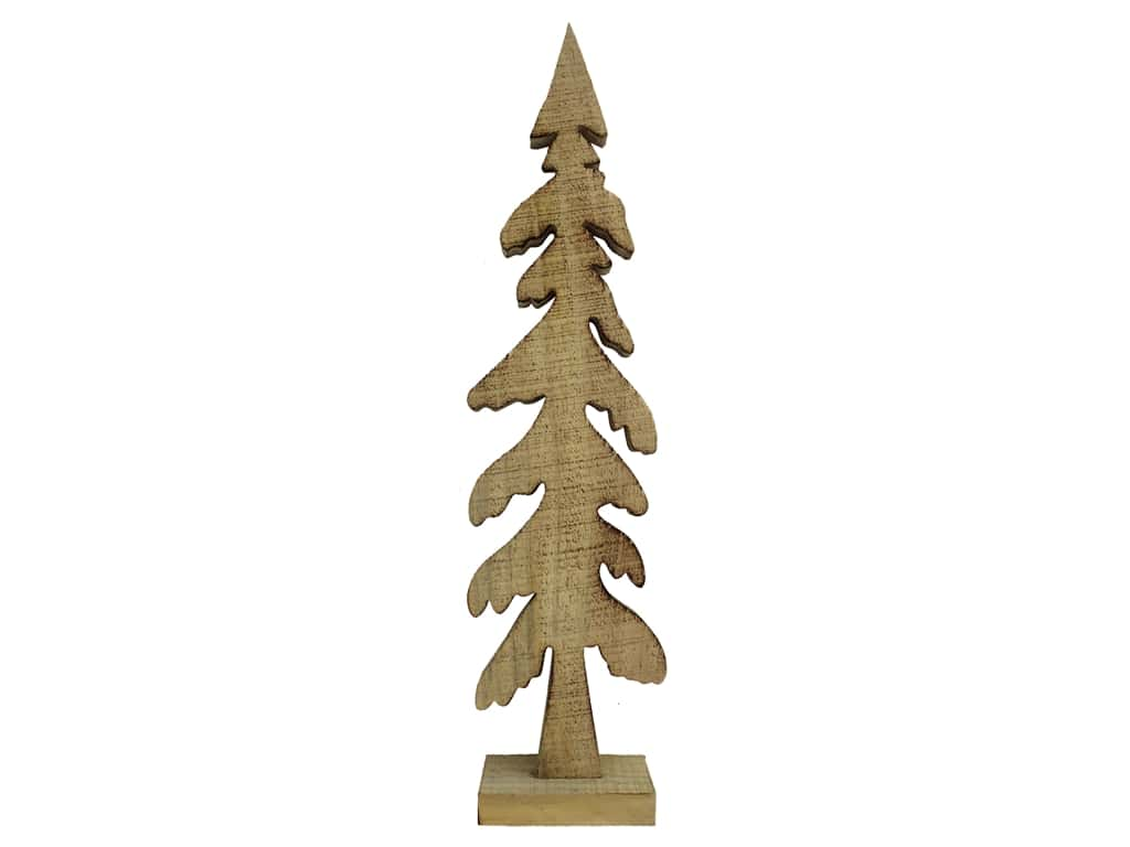 Sierra Pacific Wood Tree Figurine Evergreen 19 in. Stained