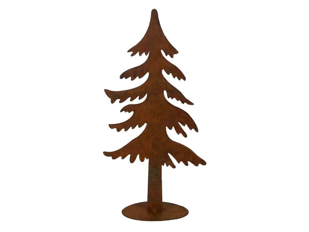 Sierra Pacific Iron Statuette Pine Tree Tall Rust