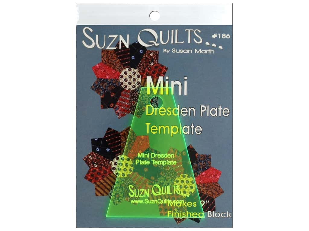 Suzn Quilts Mini Dresden Template