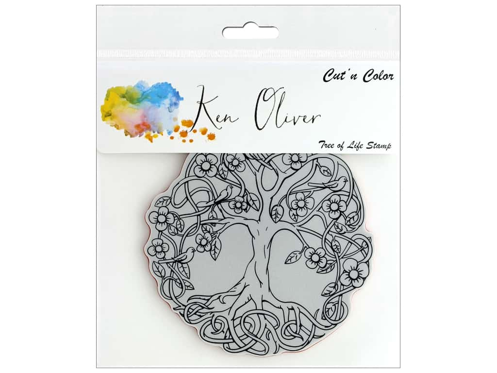 Contact Crafts Ken Oliver Cut N Color Stamp Tree of Life