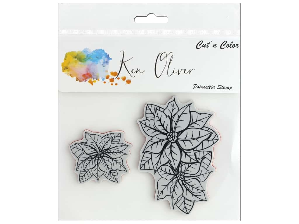 Contact Crafts Ken Oliver Cut N Color Stamp Poinsettia