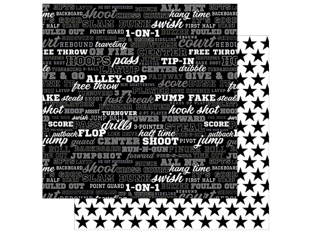 Bella Blvd Basketball Paper 12 in. x 12 in. Play by Play (25 pieces)