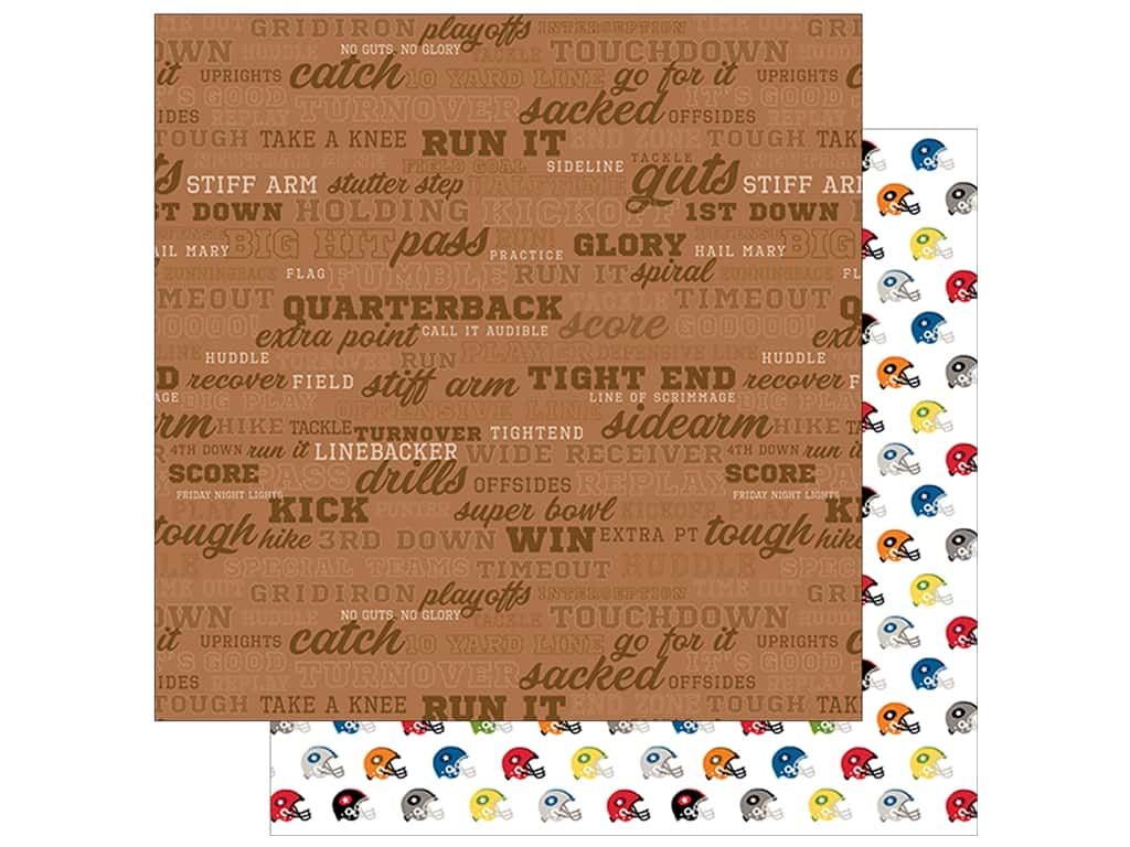 Bella Blvd Football Paper 12 in. x 12 in. Call the Play (25 pieces)