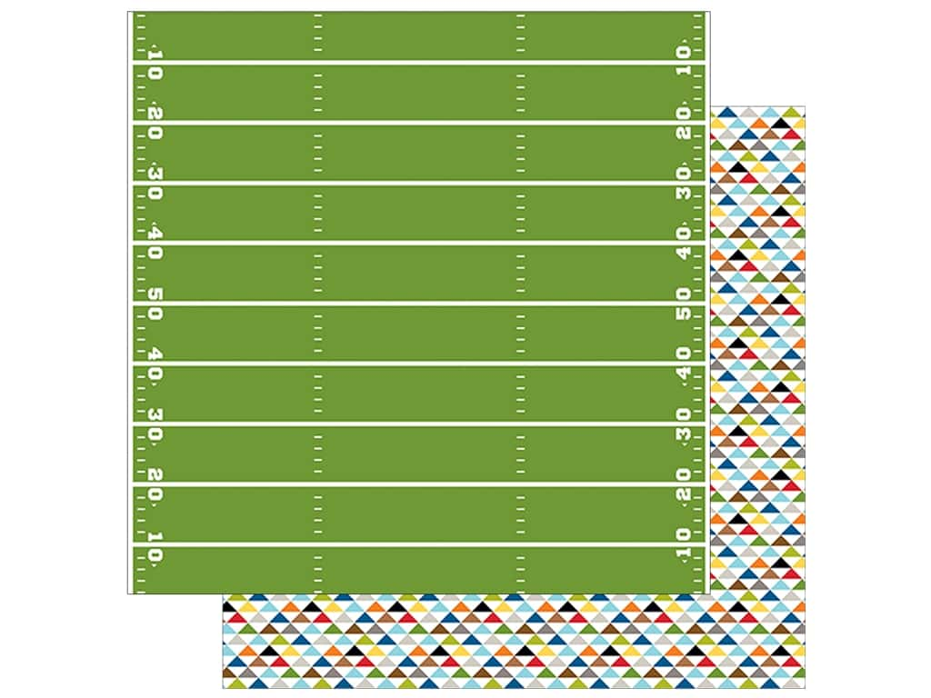 Bella Blvd Football Paper 12 in. x 12 in. Game Time (25 pieces)