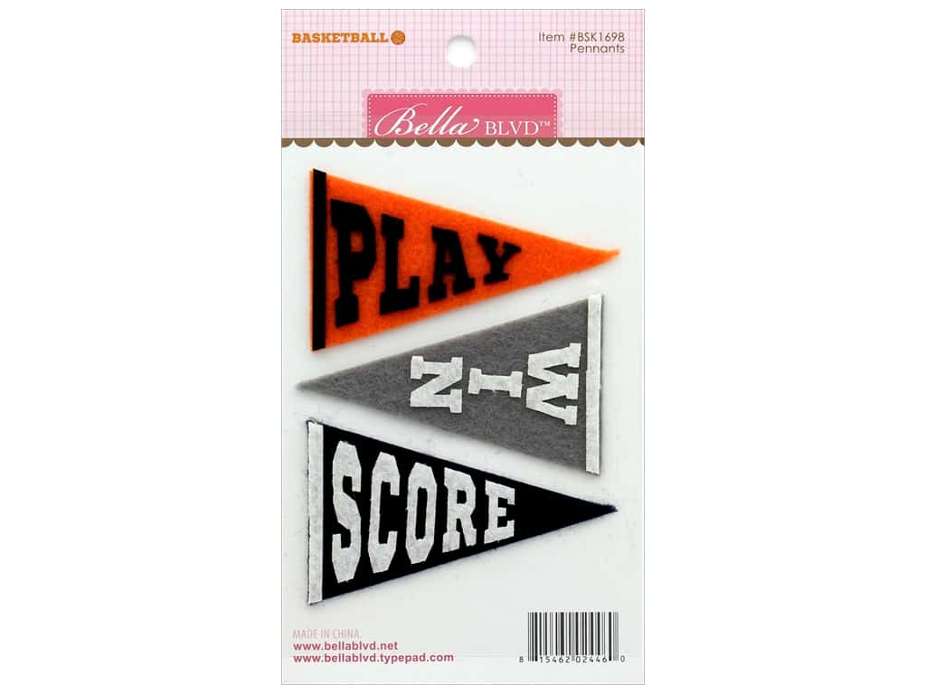 Bella Blvd Basketball Pennants