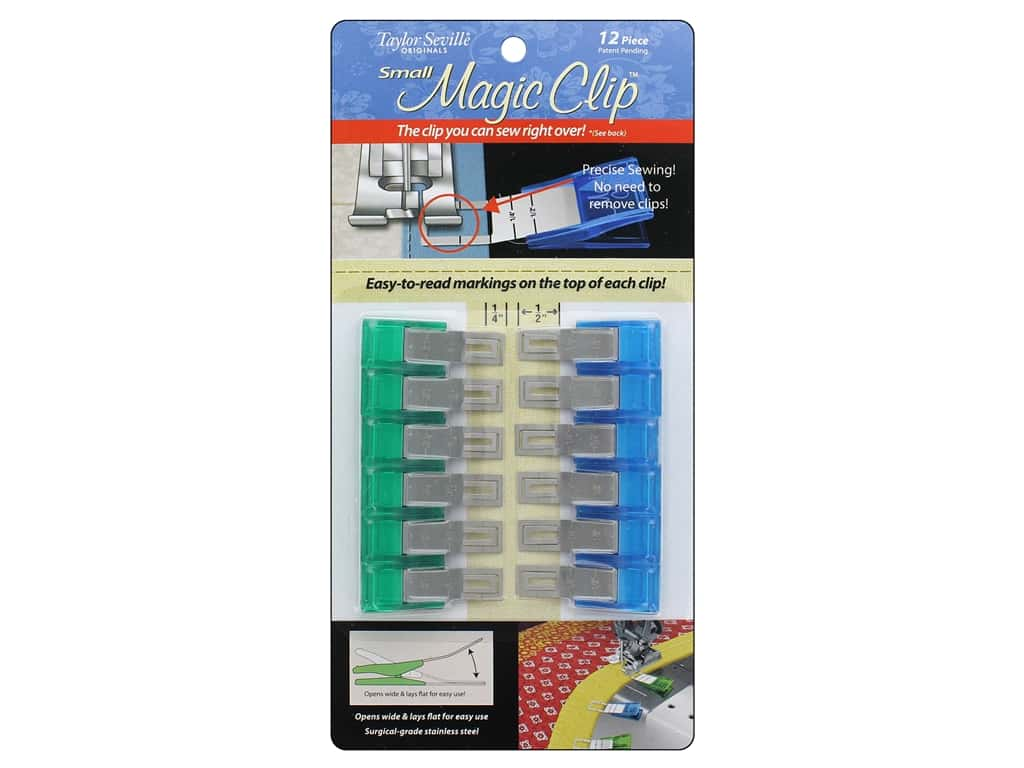 Taylor Seville Notions Magic Clip Small 12 pc