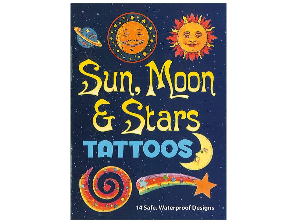 Dover Publications Little Sun Moon & Stars Tattoos Book