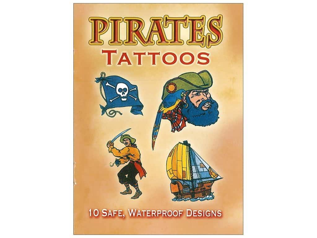 Dover Publications Little Pirates Tattoos Book