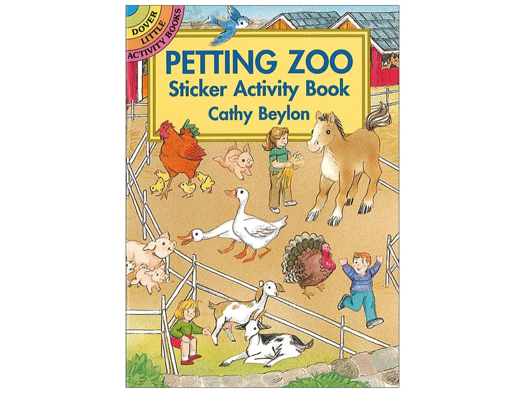 Dover Publications Little Petting Zoo Sticker Activity Book