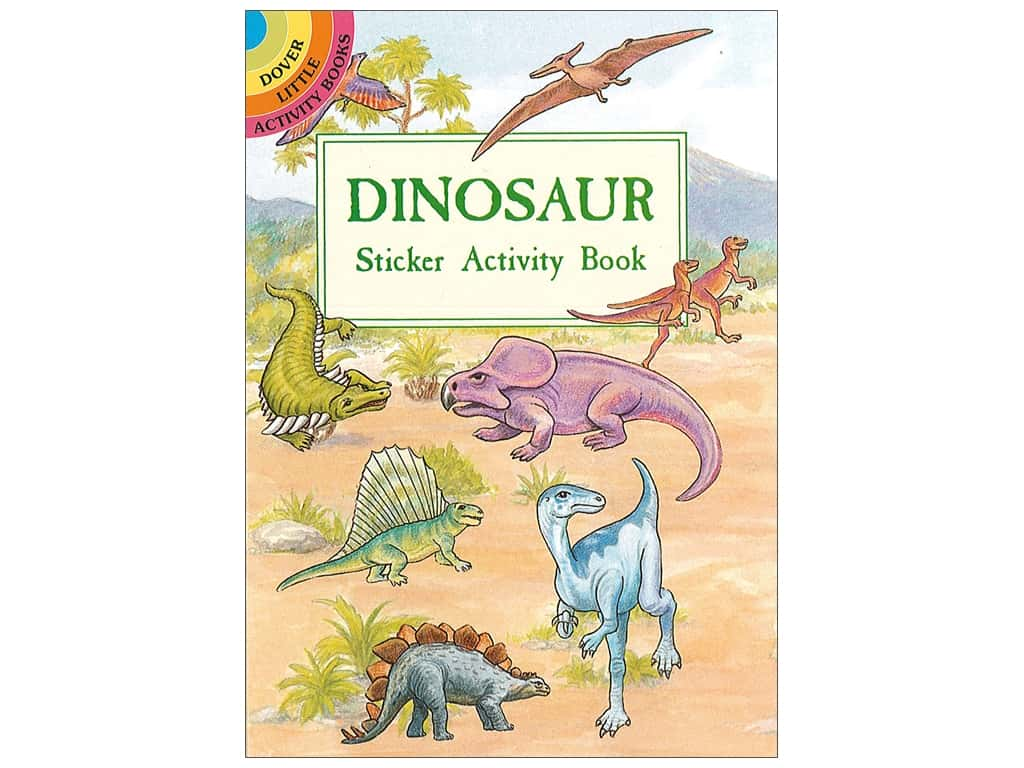 Dover Publications Little Dinosaur Sticker Activity Book