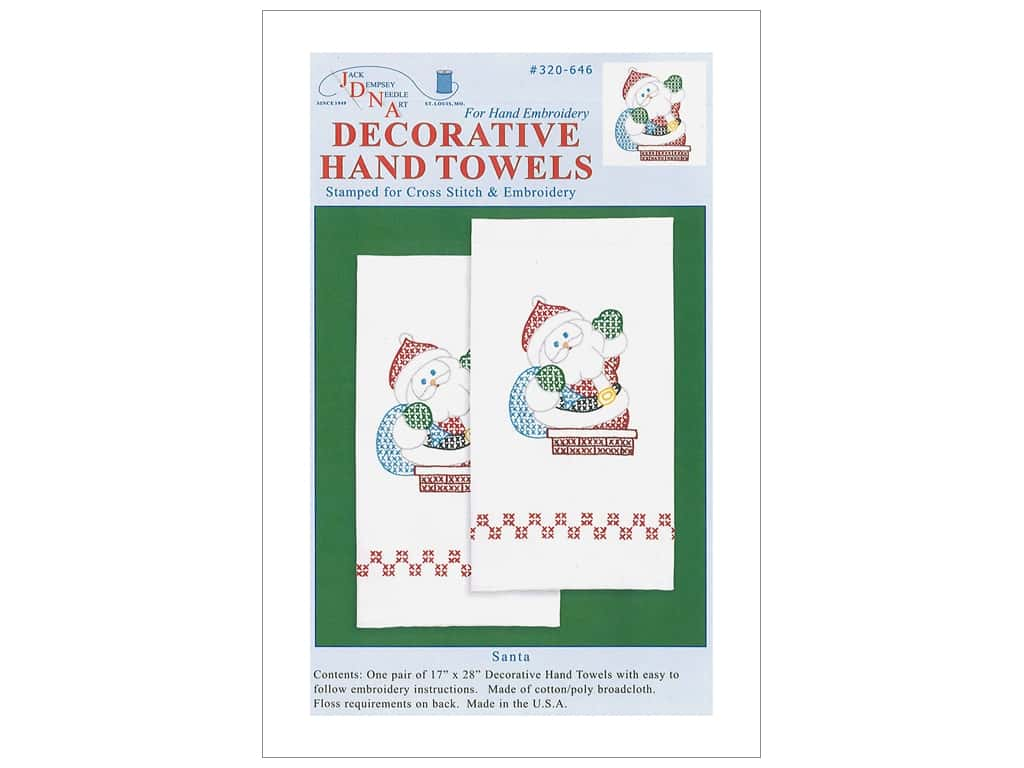 Jack Dempsey Decorative Hand Towel - Santa 2 pc.