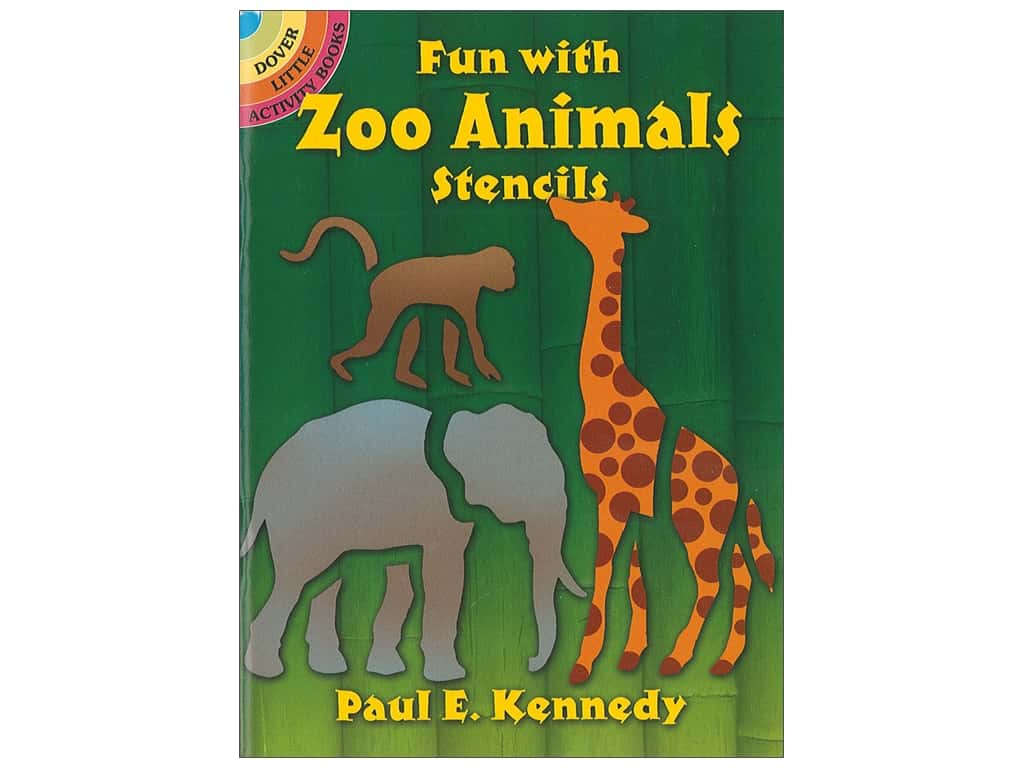 Dover Publications Little Fun With Zoo Animals Stencils Book
