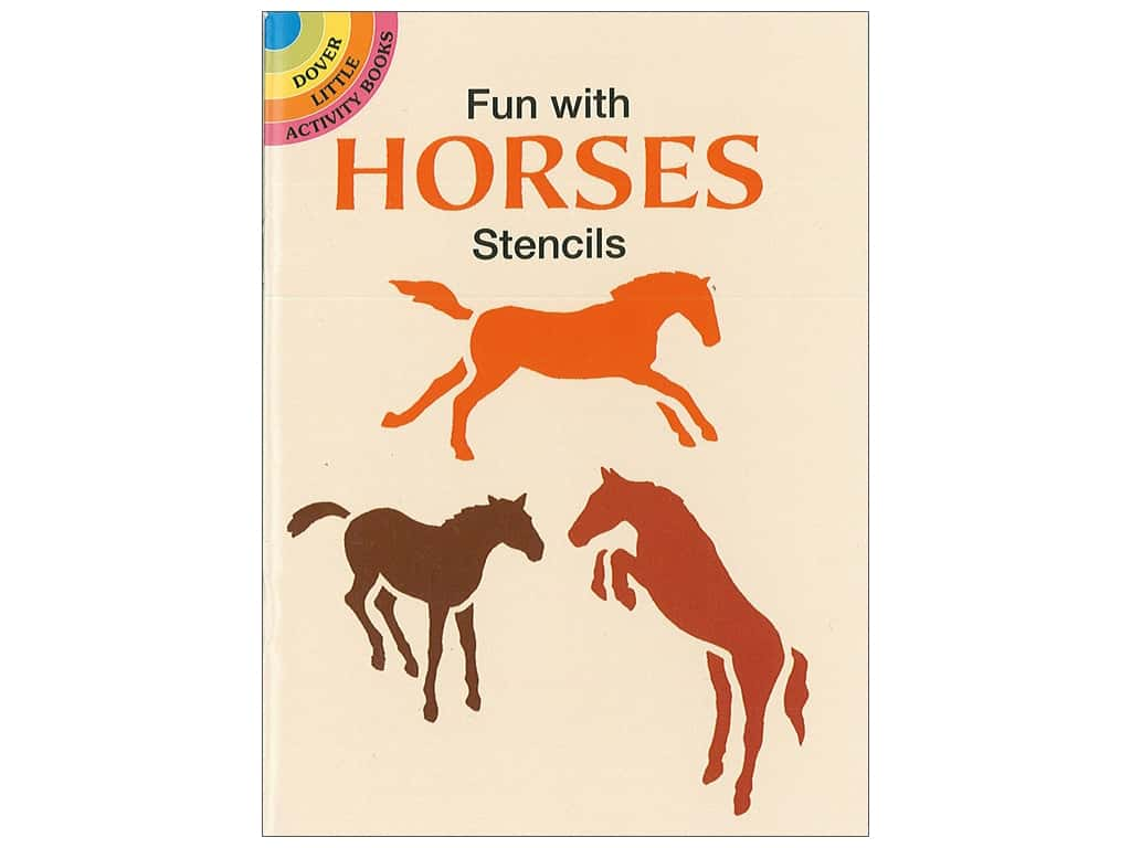 Dover Publications Little Fun With Horses Stencils Book