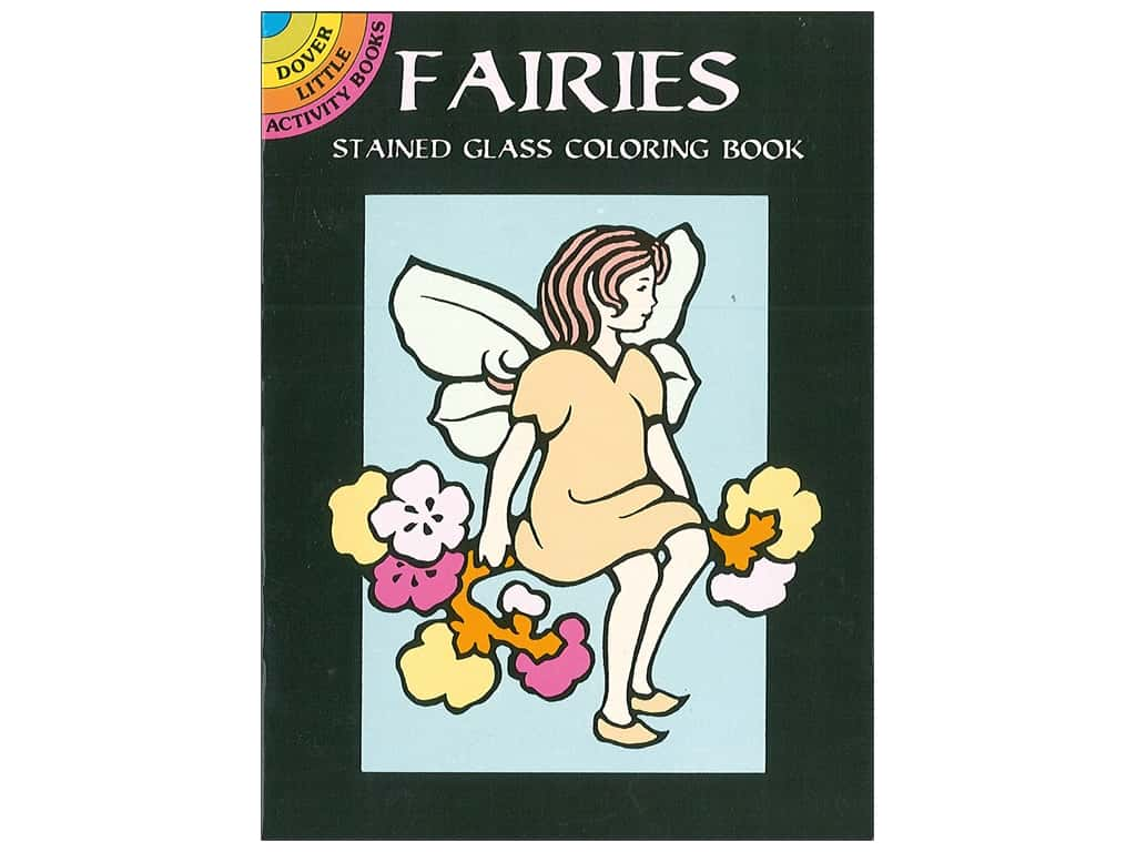 Dover Publications Little Fairies Stained Glass Coloring Book