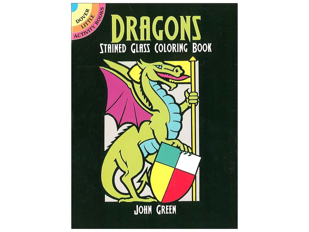 Dover Publications Little Dragons Stained Glass Coloring Book