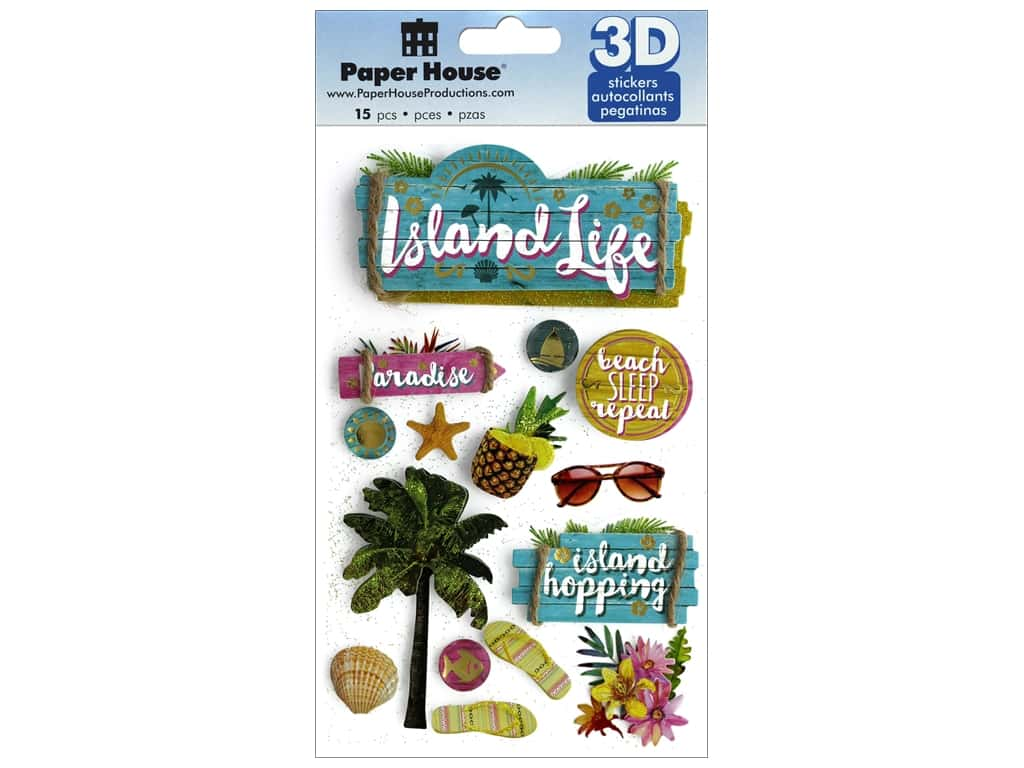 Paper House 3D Stickers - Island Life