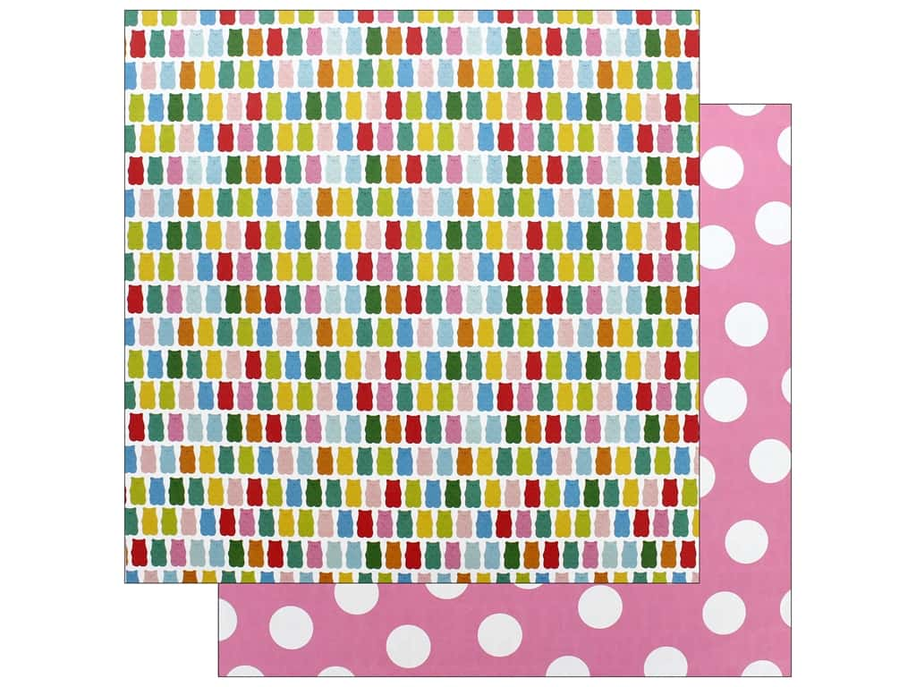 Pebbles Happy Hooray Paper 12 in. x 12 in. Beary Sweet (25 pieces)
