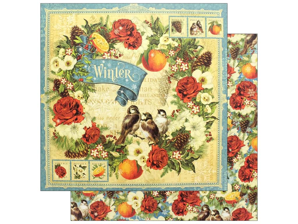 Graphic 45 12 x 12 in. Paper Seasons Winter (25 pieces)
