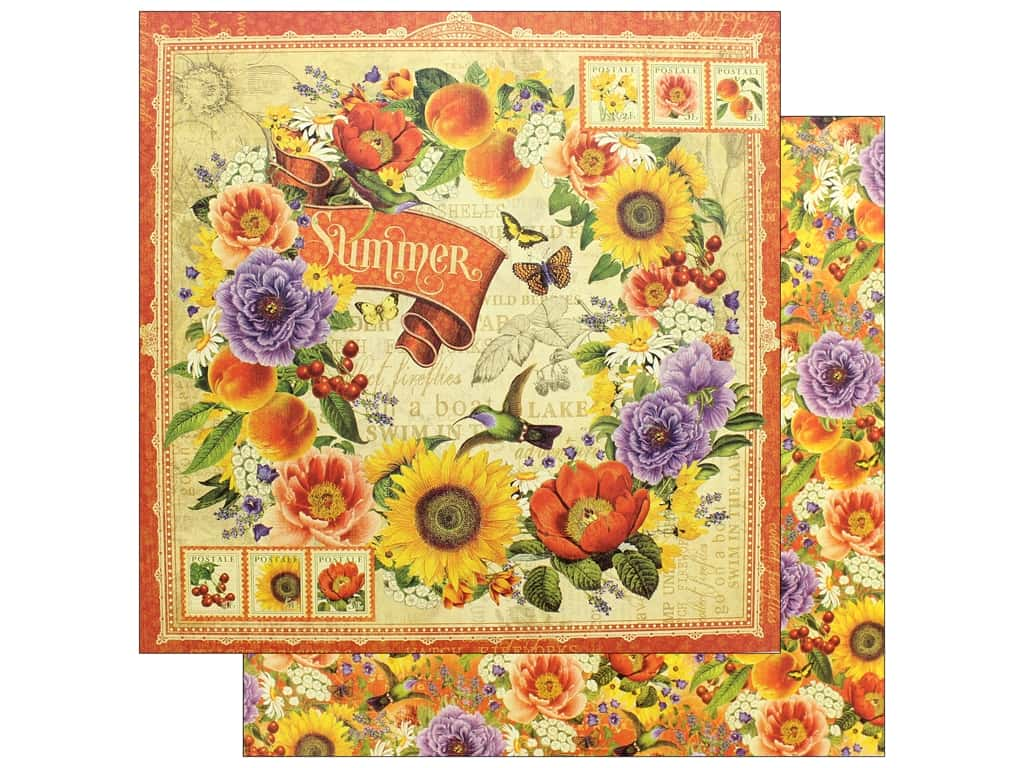 Graphic 45 12 x 12 in. Paper Seasons Summer (25 pieces)