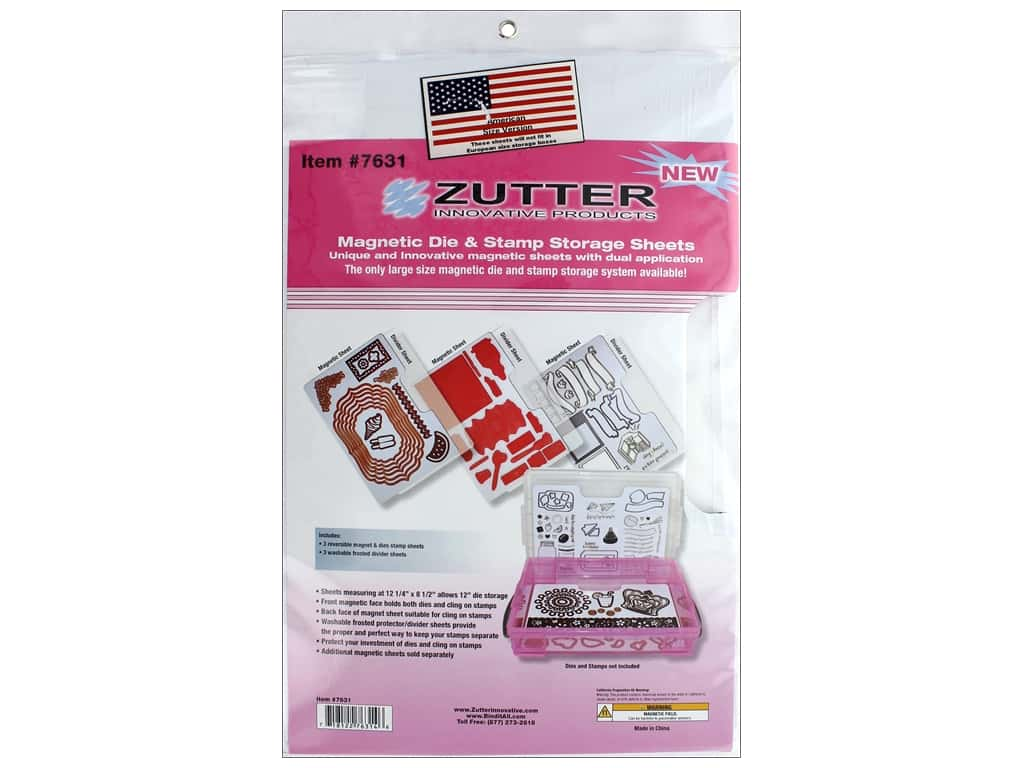 Zutter Storage Sheet Magnetic Die & Stamp Large 3 pc