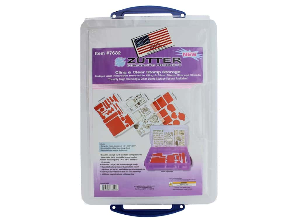 Zutter Storage System Set Cling & Clear Stamp Large