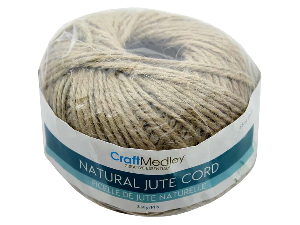 MultiCraft Cord Jute 3 ply 80 g Natural
