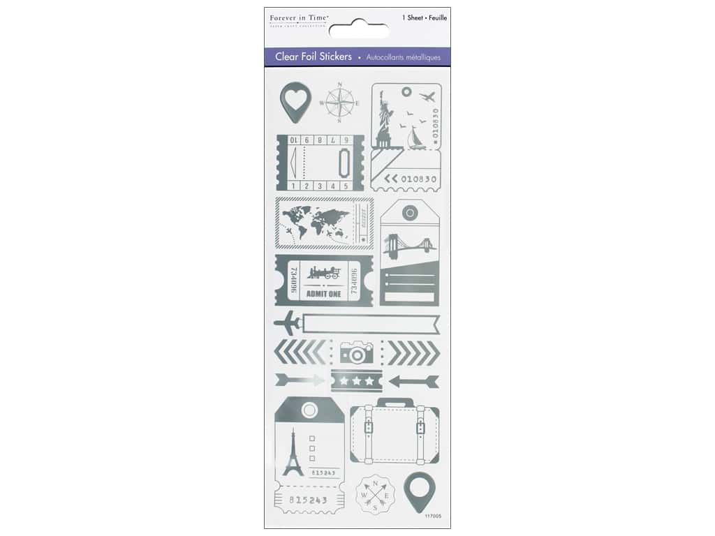 Multicraft Sticker Foil Clear World Traveler Silver