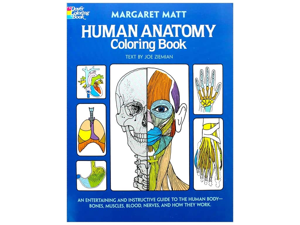 Dover Publications Human Anatomy Coloring Book