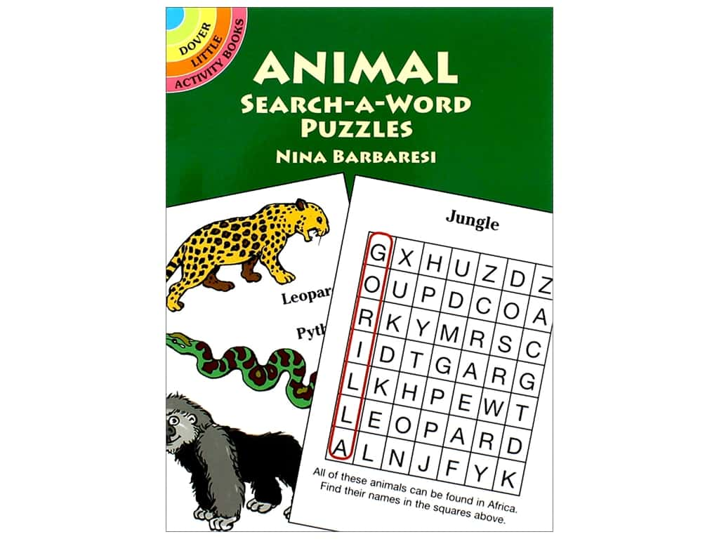 Dover Publications Little Animal Search A Word Puzzles Book