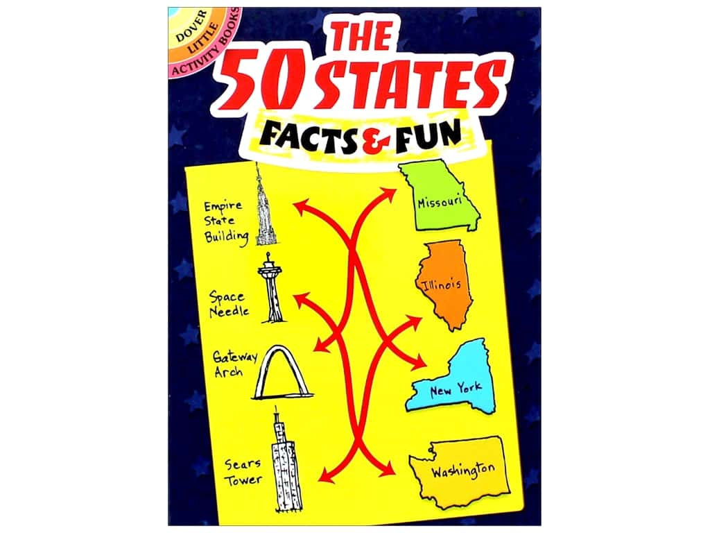 Dover Publications Little The 50 States Facts & Fun Book