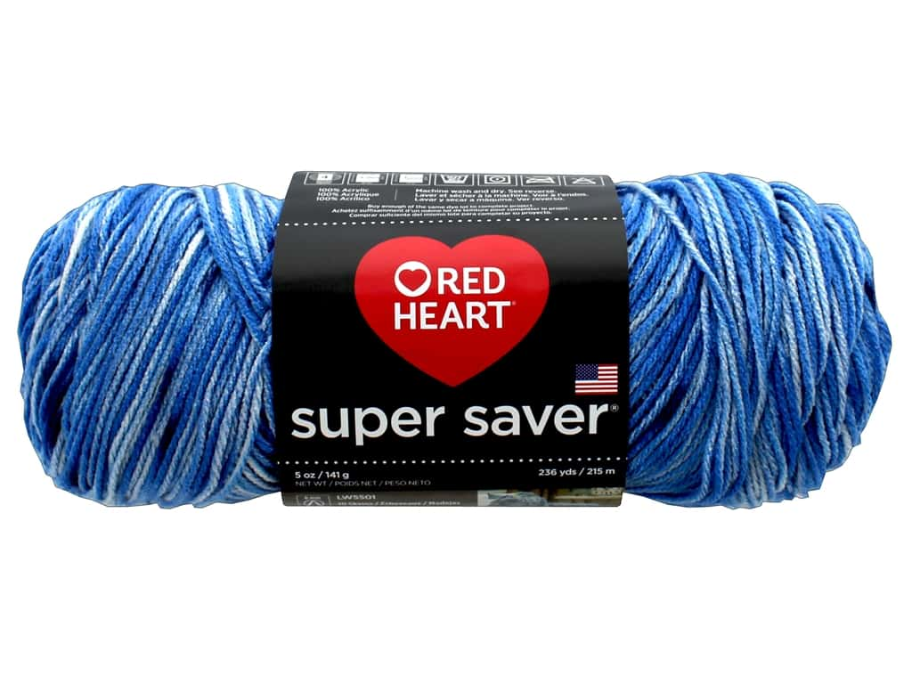 Red Heart Super Saver Jumbo Yarn 482 yd. #3977 Lapis