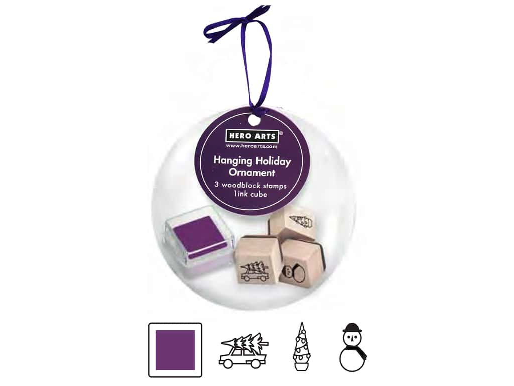 Hero Arts Rubber Stamp Set Hanging Ornament Holiday