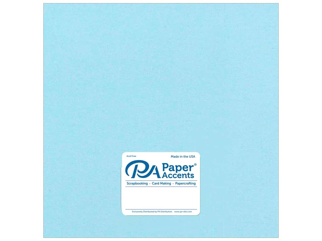 Paper Accents Cardstock 12 x 12 in. #8841C Pearlized Powder Blue 25 pc.