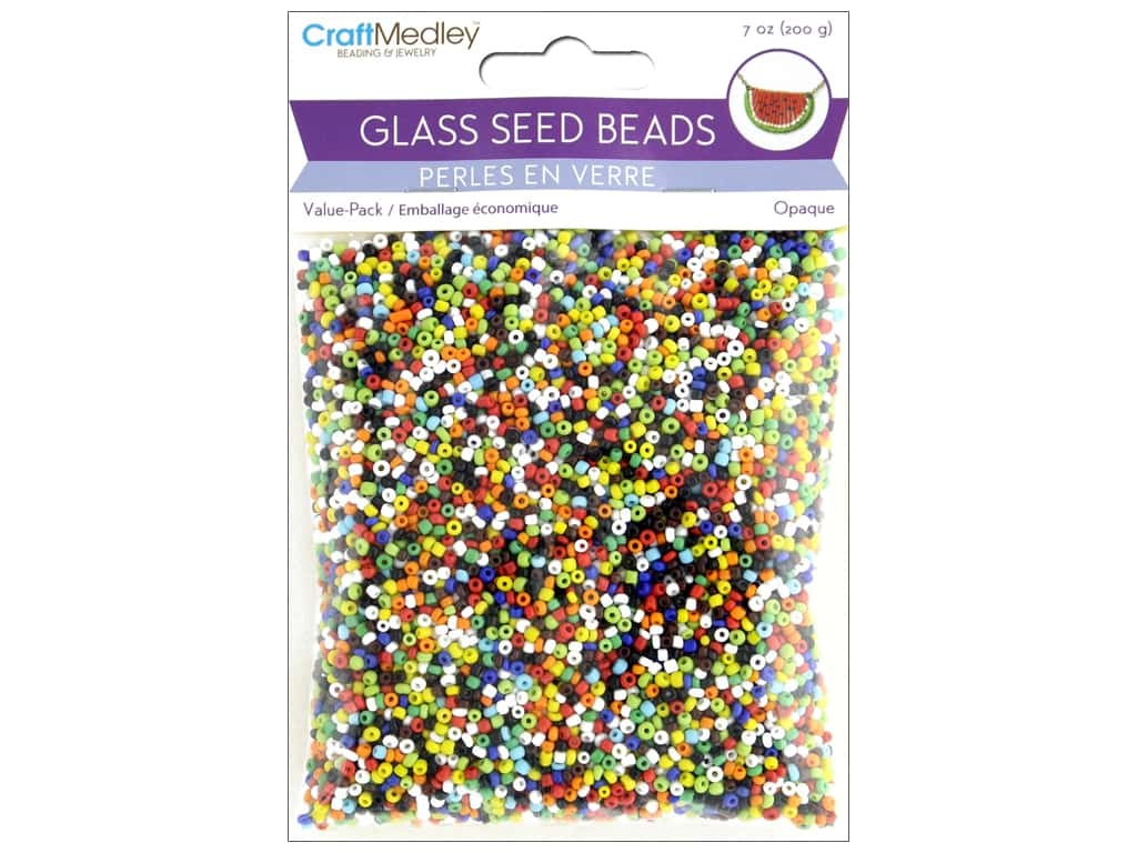 Multicraft Bead Glass Seed Value Pack 7oz Opaque