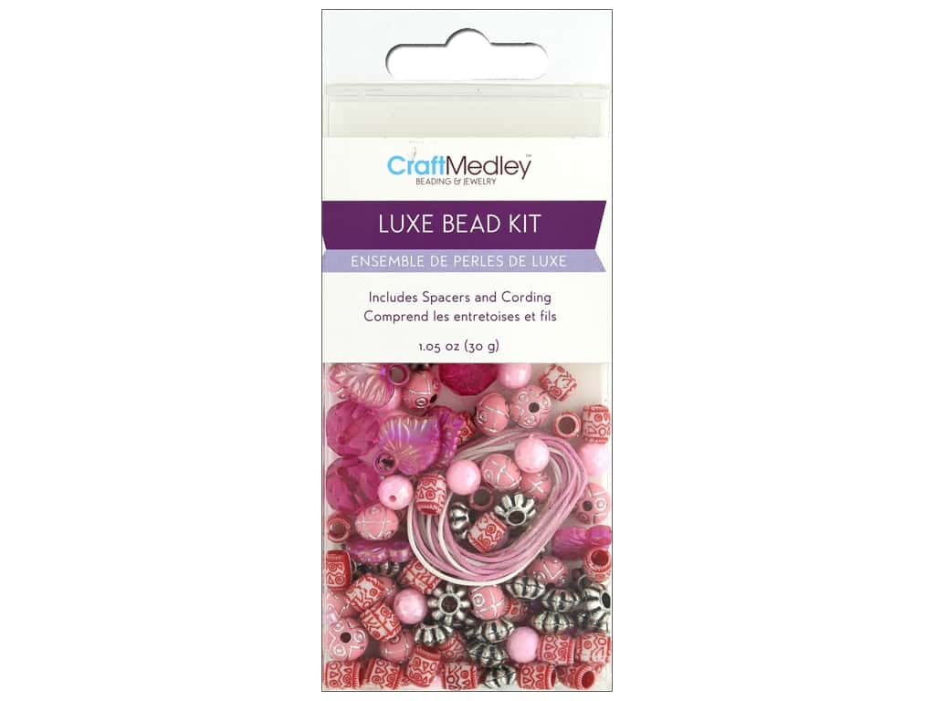 Multicraft Bead Kit Luxe 1.05 oz Pink