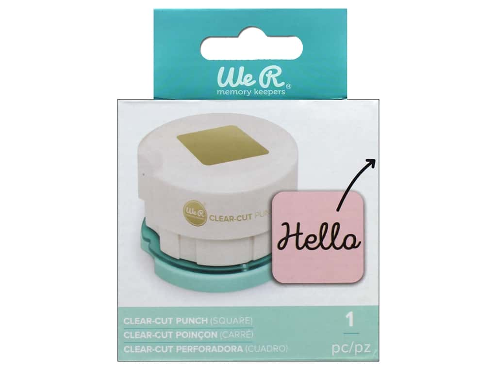 We R Memory Keepers Clear Cut Punch Square